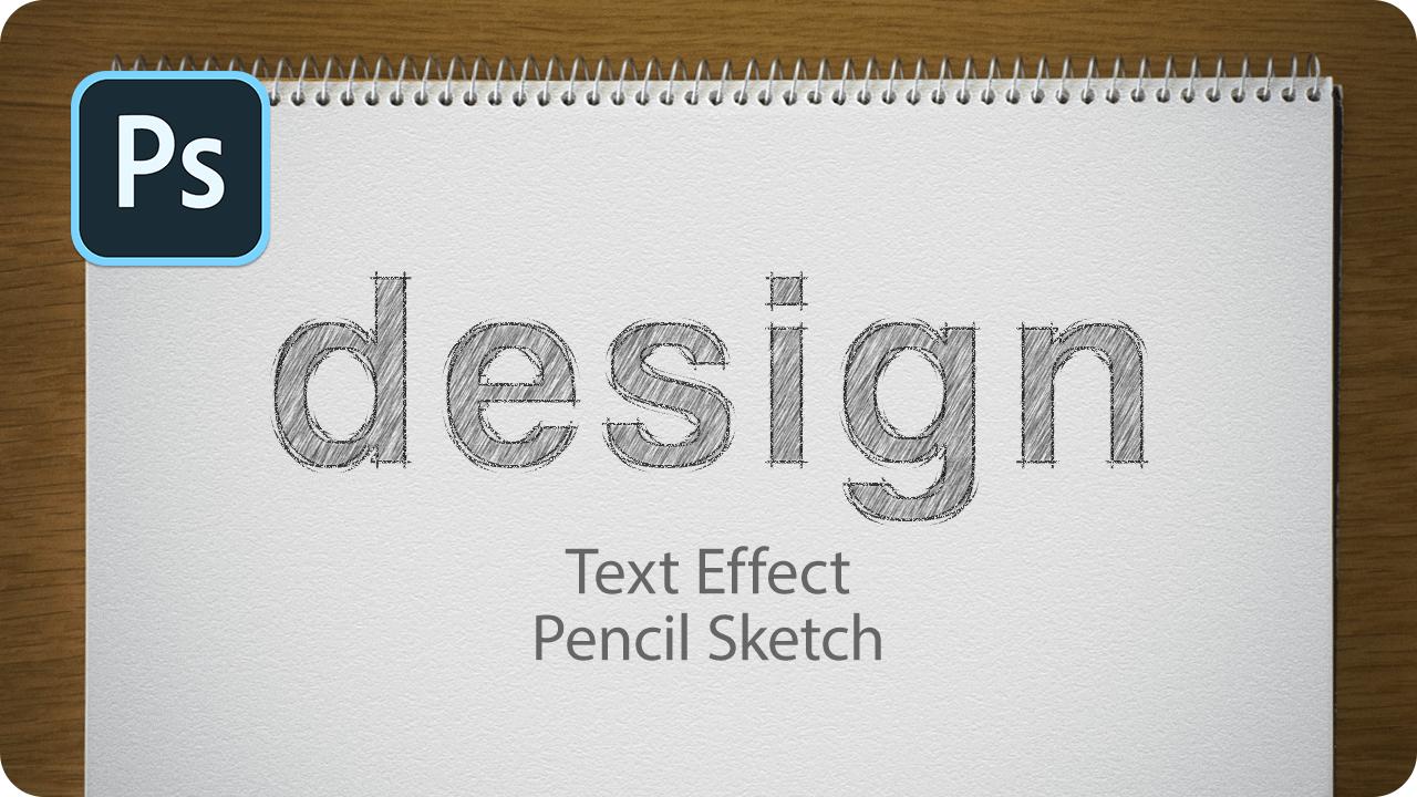 【ロゴ】フォントでつくる!鉛筆スケッチ風の文字