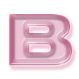 クリアベベル(透明プラスチック)・ピンク