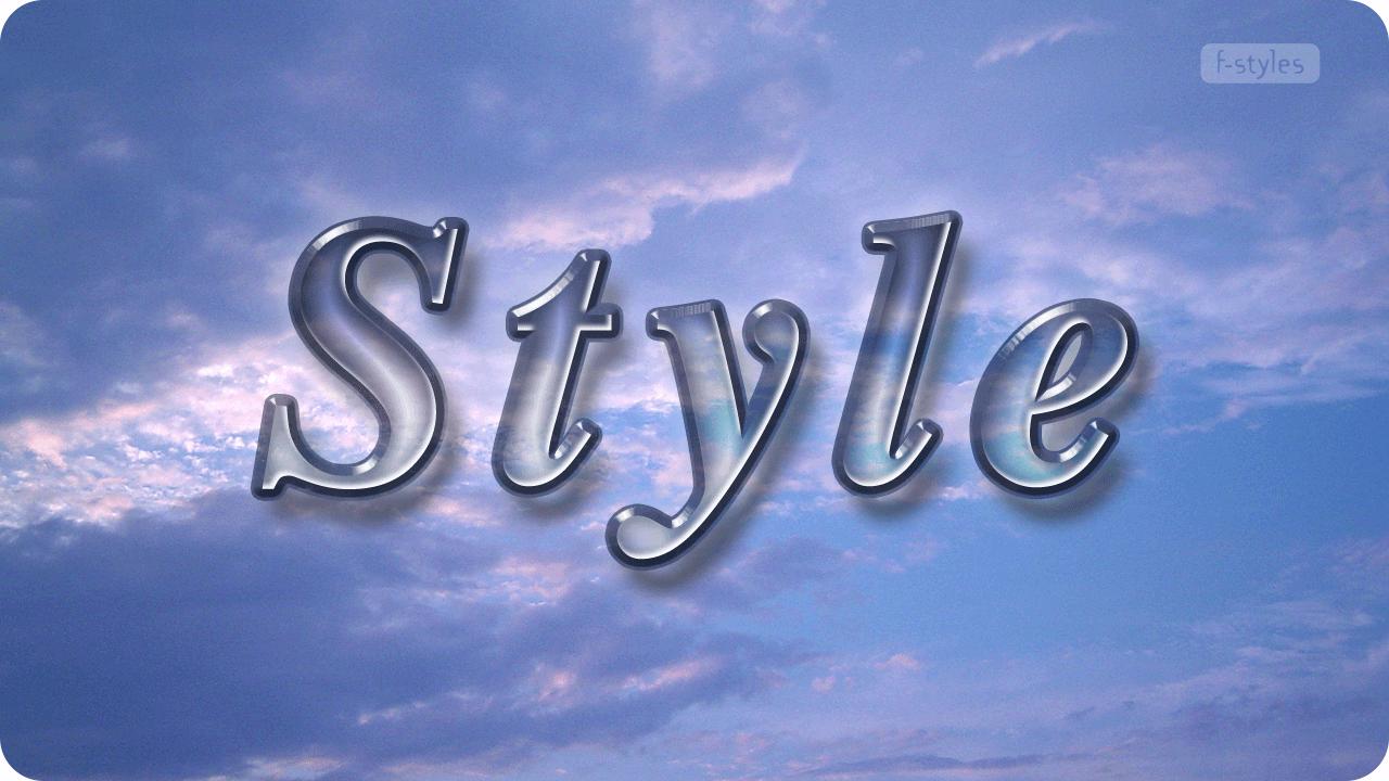 【スタイル】ガラス・クリスタルネーム【フリー】