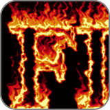 フォントでつくる!燃え上がる炎の文字(fc2)