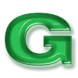 クリアベベル(透明プラスチック)・グリーン