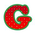 イチゴ・グラフィック緑02