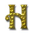 手打ち槌目仕上げ(銅・ブリキ・金属加工)・ゴールド(アンティーク)