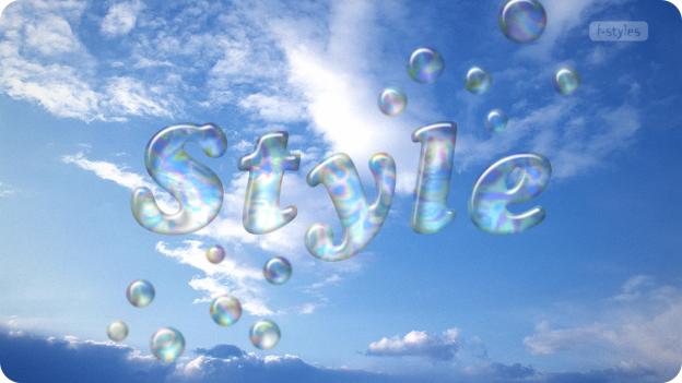 【スタイル】液体・シャボン玉【フリー】
