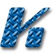 縞鋼板・ブルー