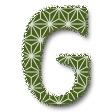 麻の葉・ダークグリーン