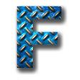 縞鋼板2・ブルー