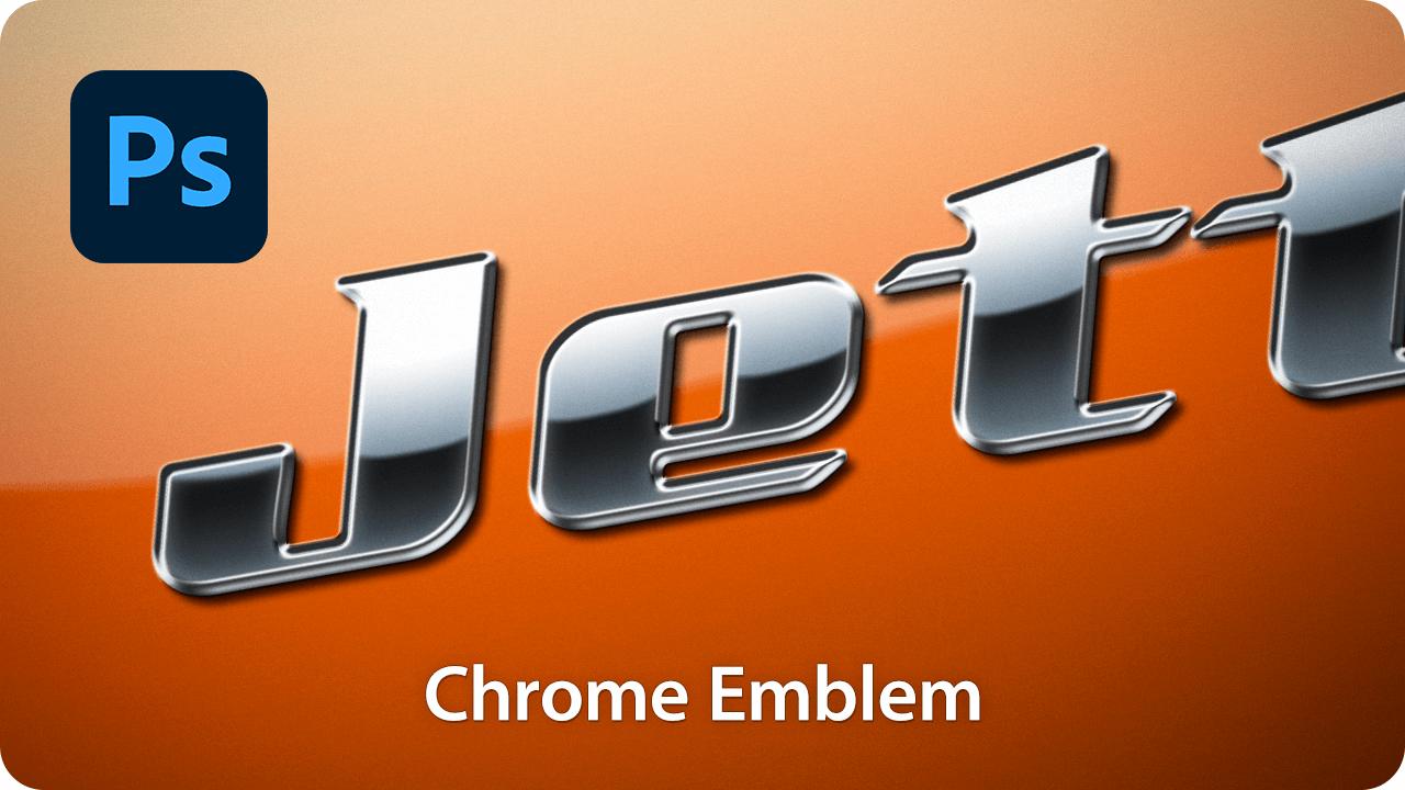 【ロゴ】フォントでつくる!金属メッキの立体文字