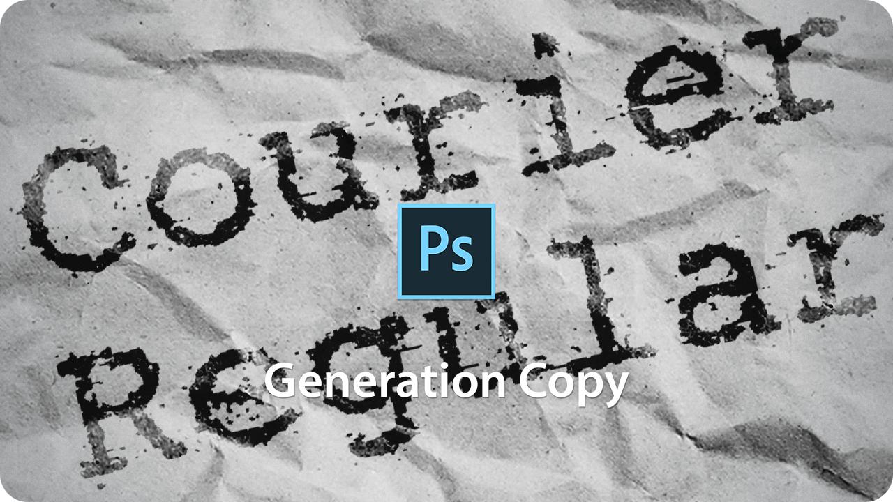 【ロゴ】フォントでつくる!複写機で劣化したタイプ文字