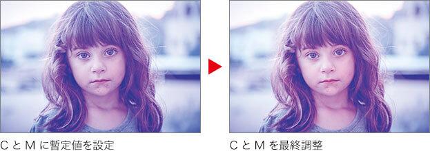 C と M に暫定値を設定 → C と M を最終調整
