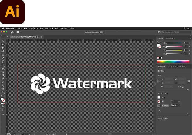 Illustrator でロゴを作成