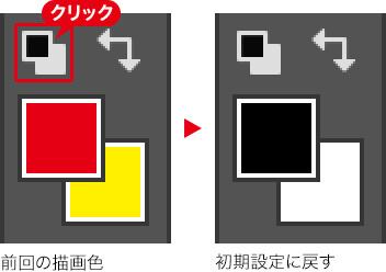 前回の描画色→初期設定に戻す