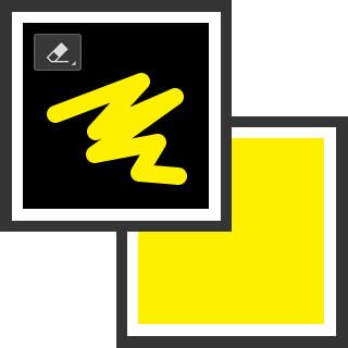 消す色が背景色 ( 概念図 )