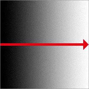 線形グラデーション ( 直線の階調を作成 )
