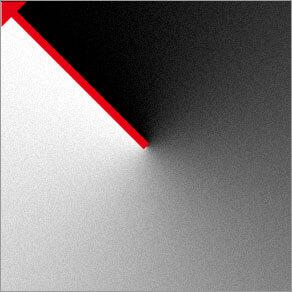 円錐形グラデーション ( 回転する階調を作成 )
