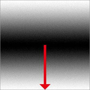 反射形グラデーション ( 直線の階調を対称的に作成 )