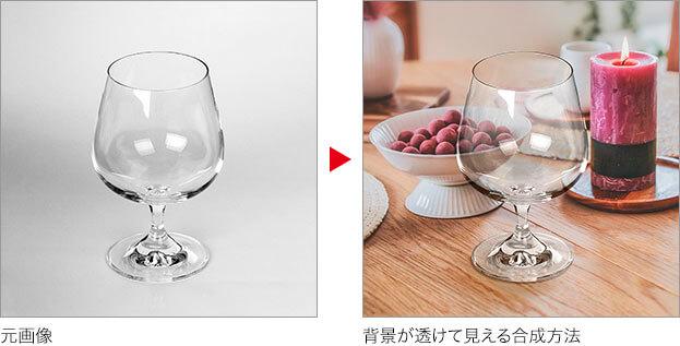 元画像→背景が透けて見える合成方法