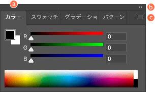 Photoshop のパネル ( タブグループ )