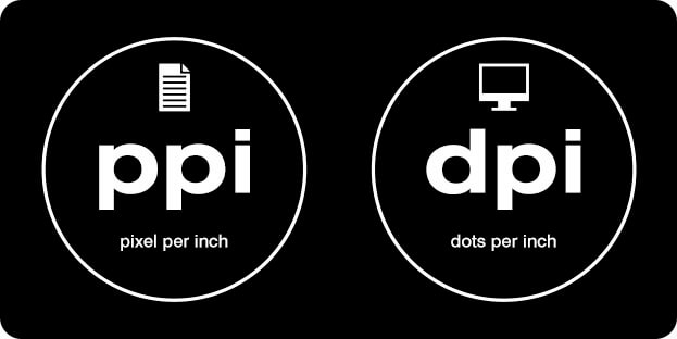 データの「 ppi 」と デバイスの「 dpi 」