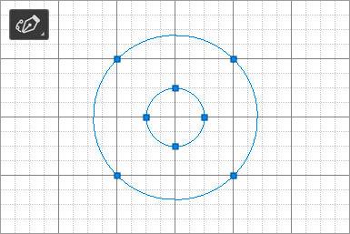 アンカーポイント4点で正円のセグメントを形成