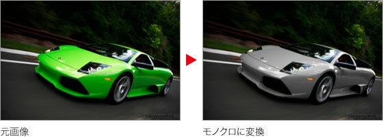 元画像 → モノクロに変換