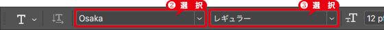 フォントに「Osaka レギュラー」を設定