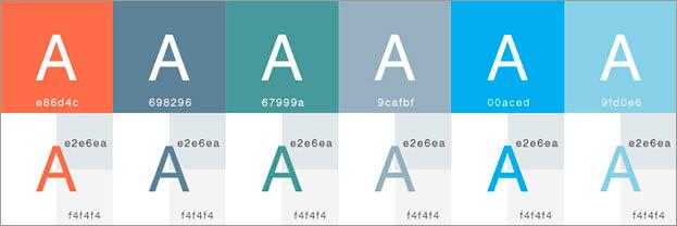 指定色のサンプルを表示する