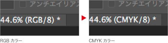 RGB カラー → CMYK カラー