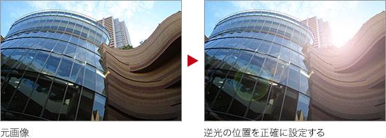 元画像 → 逆光の位置を正確に設定する