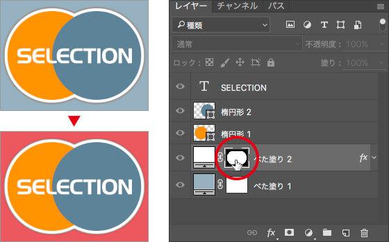 画像描画モード / レイヤーマスクモードの切り替え( オーバーレイ表示 )