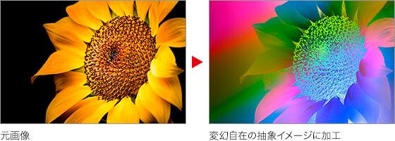 元画像 → 変幻自在の抽象イメージに加工